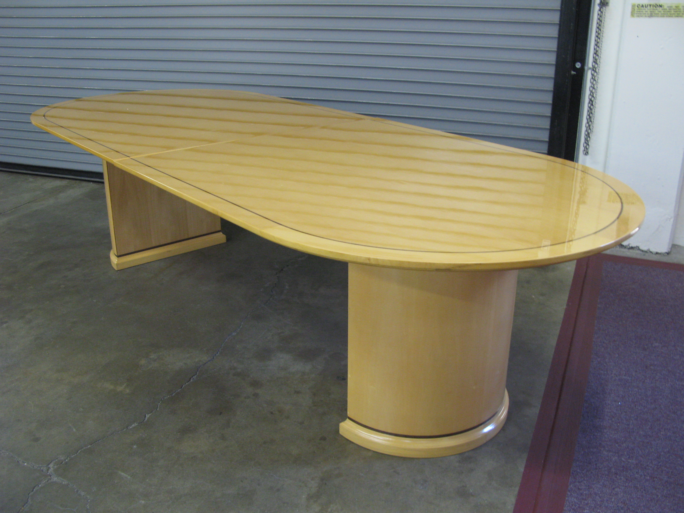 Amazing Mendocino 120L x 48D Racetrack table With 2 Half Drum Bases in Hi  2272 x 1704 · 1702 kB · jpeg